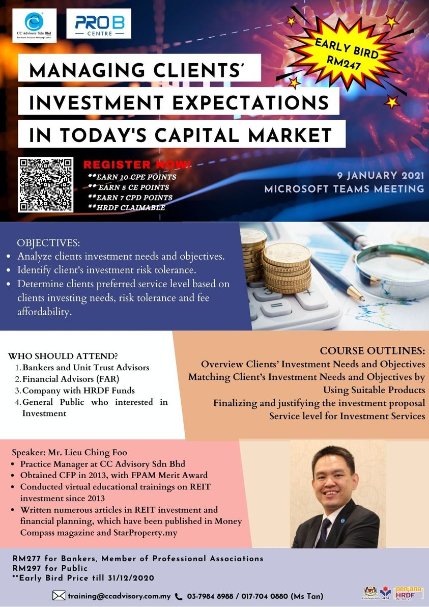 Managing Clients' Investment Expectations in Today's Capital Market